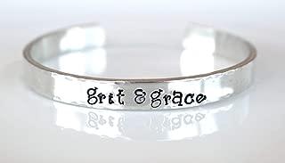 Grit and Grace Bracelet - Hand Stamped Bracelet