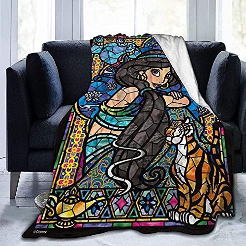 KINGAM Manta de forro polar de franela de Disney Princesa, de doble cara, ligera, acogedora manta de felpa para días fríos y habitaciones de aire acondicionado, accesorios de verano bien emparejados