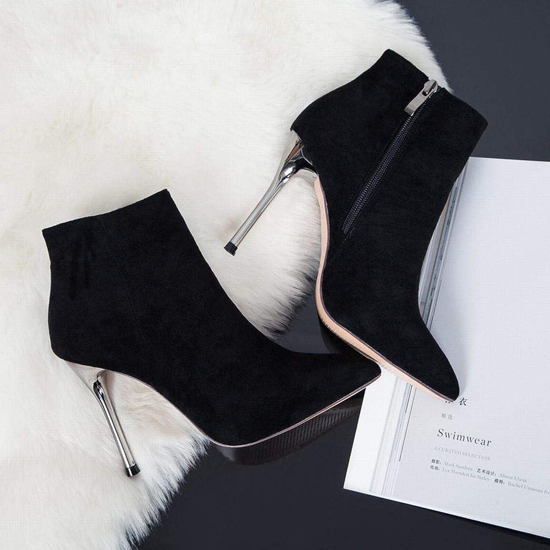 Sixminyo Damen Stiefel High Heel Stiefel Schwarz Herbst Winter Stiefeletten (Farbe   schwarz, Größe   34)  | Primäre Qualität  | Shopping Online  | Vorzugspreis