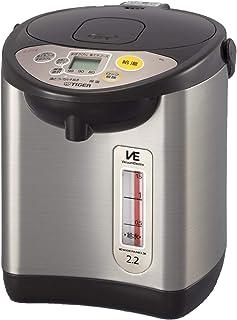 タイガー魔法瓶(TIGER) 電気ポット 2.2L ブラウン 省スチーム 節電タイマー VE 保温 とく子さん PIL-A220-T