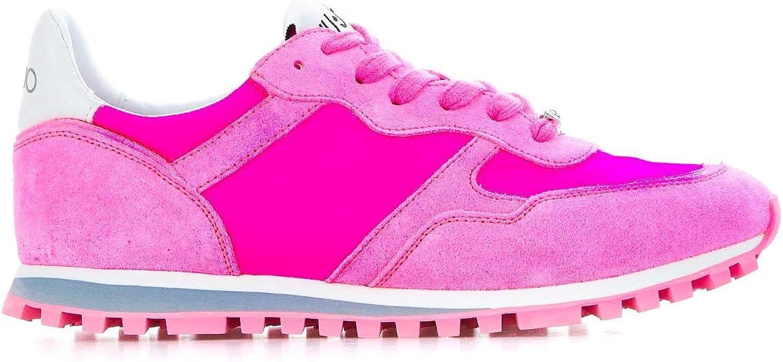 Liu Jo Women's BXX049PX003S16F1 Fuchsia Suede Sneakers