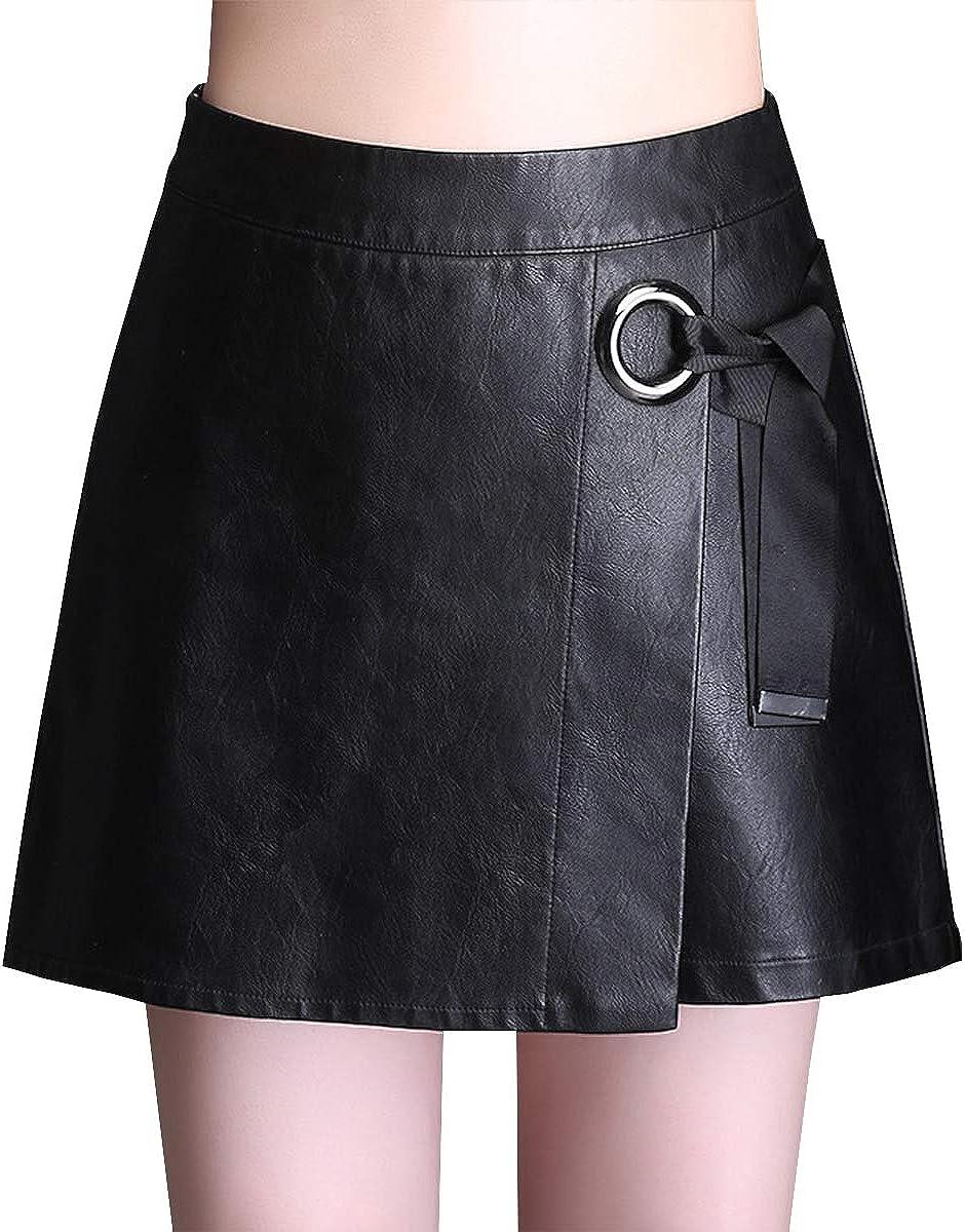DISSA FS615 Women Pu Leather Plus Size Mini Bodycon Short Pencil Club Skirt