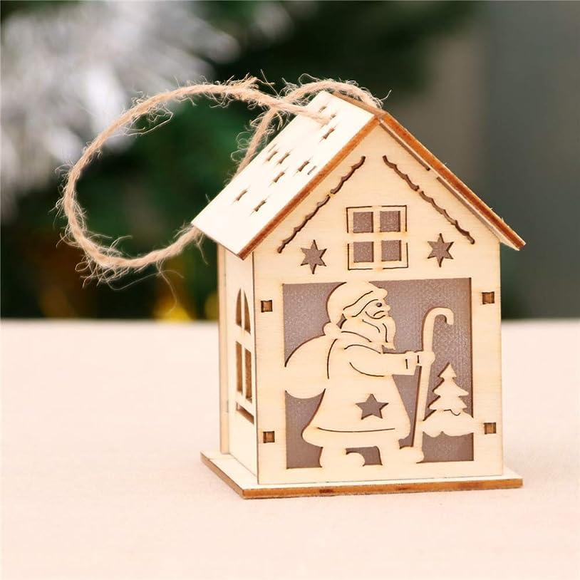 結婚式テレビ局シミュレートするLED ライト ウッド ハウス キュート クリスマス ツリー 装飾 飾り ホリデー デコレーション SDLR