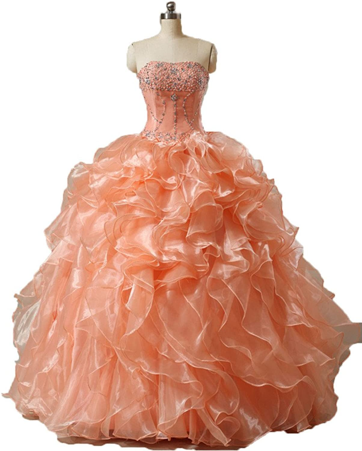 Kaitaijidian Women's Prom Gowns Sweetheart Ball Gown Quinceanera Dresses