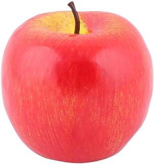uxcell エミュレーションフルーツモールド 人工アップルデザイン ハウステーブルデコレーション フォーム レッド 1個