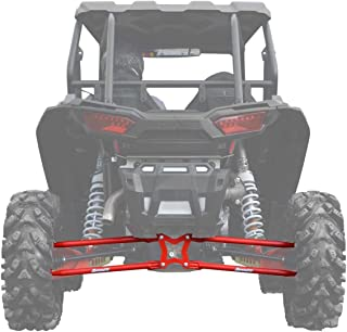 SuperATV Heavy Duty Round Tubed Rear Radius Arms/Rods for Polaris RZR XP 1000 / XP 4 1000 (2014+) - Red