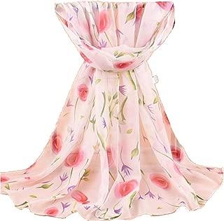 160 50cm Birds Flowers Fashion Floral Ladies Scarves Chiffon Womens Shawls X020