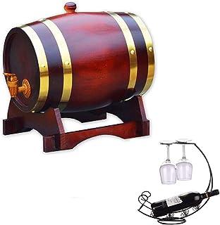 Tonneau à vin en bois 5L Fûts de chêne de whisky, Fûts de chêne de vin rouge, pour le stockage ou Vinification du vin et l...