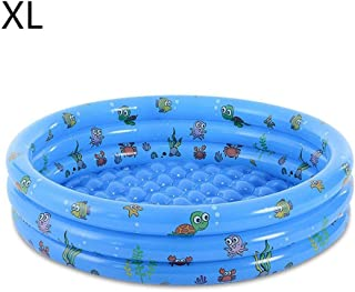 Inflatable Round Baby Infant Swimming Pools Cartoon Baby Outside/Indoor Swimming Pool Baby Infant Play Ball Pool Toys@Blue XL