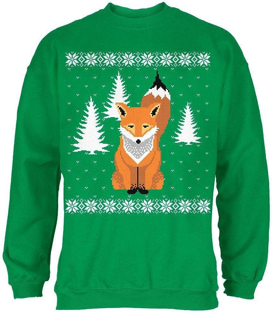 Big Fox Ugly Christmas Sweater Irish Green Adult Sweatshirt