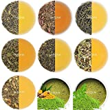 VAHDAM, Green Tea Sampler - 10 TEAS, 50 SERVINGS | 100% NATURAL INGREDIENTS | Detox Tea & Weight Loss | Brew Hot or Iced | Green Tea Loose Leaf | Tea Variety Pack | Green Tea Collection