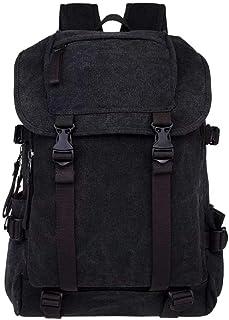 DRENECO Women Canvas Backpack Casual Travel Daypack Multifunction Backpack School Bag Laptop Backpack