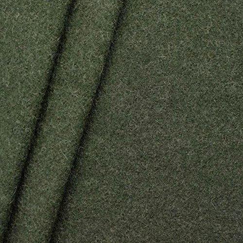Unbekannt 100% Wolle Walkloden Stoff Meterware Jäger-Grün