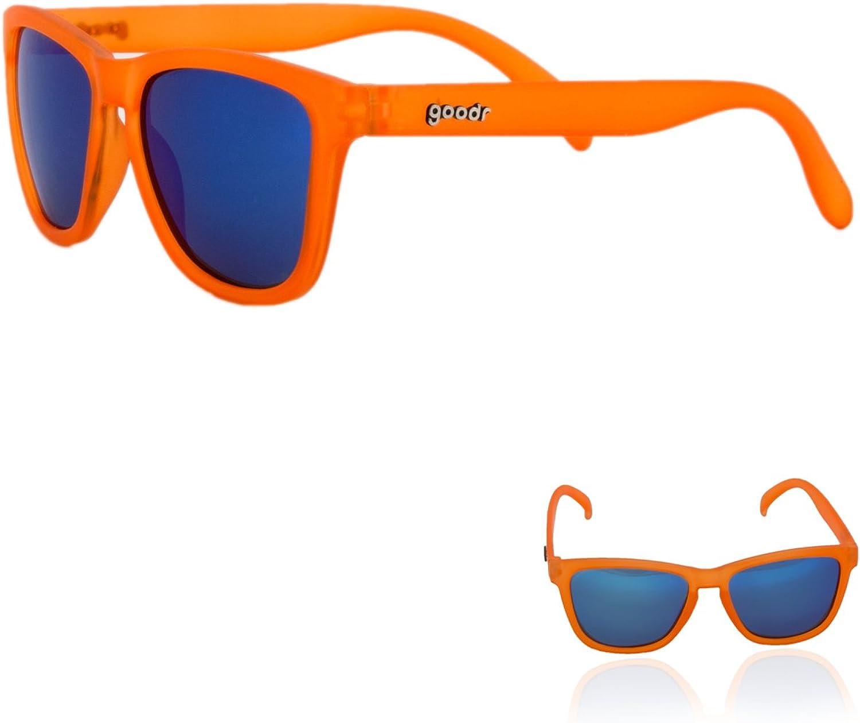 goodr RUNNING SUNGLASSES - (Orange w/Blue Lens)