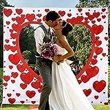 Hochzeitsherz zum Ausschneiden für das brautpaar Hochzeitsherz laken mit Herz zum Ausschneiden Herz Hochzeitsspiel für Braut und Bräutig Bedrucktes Bettlaken Hochzeitslaken...