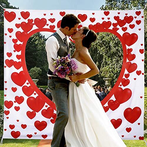 Hochzeitsherz zum Ausschneiden für das brautpaar Hochzeitsherz laken mit Herz zum Ausschneiden Herz Hochzeitsspiel für Braut und Bräutig Bedrucktes Bettlaken Hochzeitslaken Hochzeitsbrauch 200 * 180cm