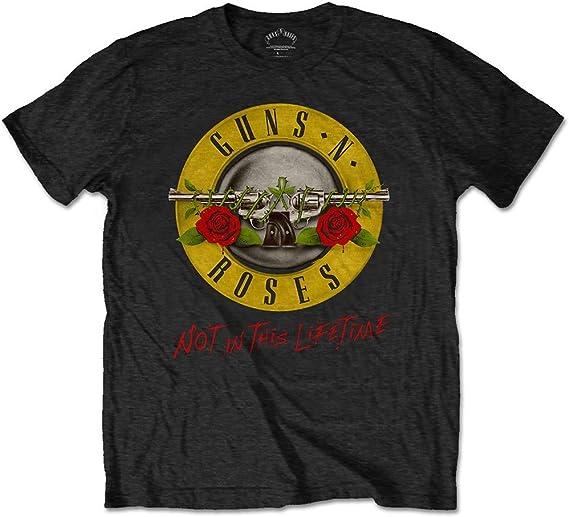 Guns & Roses Guns N Roses Not In This Lifetime Tour with Back Print Camiseta para Hombre