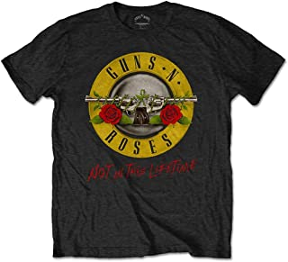 Guns N Roses T Shirt Not In This Lifetime Tour Band Logo 公式 メンズ 新しい