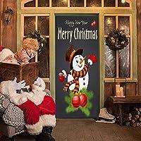 壁纸壁画3Dドア壁纸粘着性インテリアドアポスタークリスマススマーノンDiyベッドルーム子供部屋の装饰-77X200Cm-77x200厘米