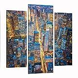 Bilderwelten Cuadro en Lienzo 3 Partes - Midtown Manhattan - Tríptico De...