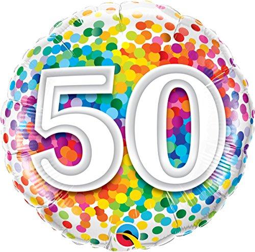 Folat 49543Q Ballon d'anniversaire 50 ans Multicolore