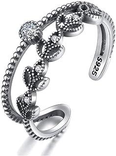 S925 Thai anello d'argento femminile moda piccola foglia fresca a forma di micro intarsiato 3A grado zircone braccialetto