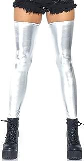 Leg Avenue Women's Wet Look Thigh Highs