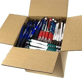 DG Collection (5lb Box Approx. 200-250 pens Assorted Misprint Retractable Ballpoint Pens Office Ink Pen Supplies Big Bulk Lot [New Improved Version]
