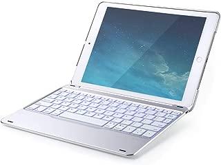 Anker Bluetooth Folio Keyboard Case for iPad 9.7 Inch, 7 Color Backlit Wireless iPad Case with Auto Sleep/Wake, Backlit Keys