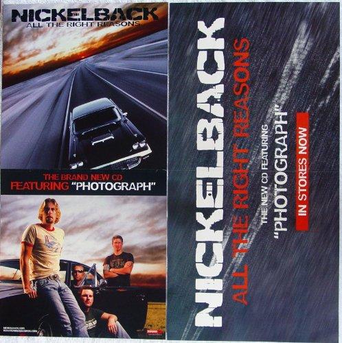 Nickelback - All The Right Reasons - Two Sided Poster - Rare - New - Chad Kroeger - Ryan Peake - Mike Kroeger - Daniel Adair - 3 Doors Down - Billy Gibbons - Dimebag Darrell - Pantera