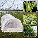 winemana Winter Plant Covers Freeze Protector, 0.9 oz 8 x 30 FT Reusable Frost Blanket Antifreeze Cover Plant Protective Layer for Winter Cold Weather Animals