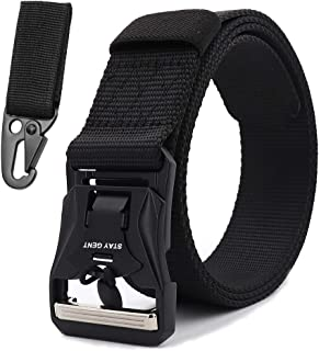 STAY GENT Tactical Belt for Men Freely Adjustable Military Belt with Magnetic Quick Release Buckle for Police Firefighters...