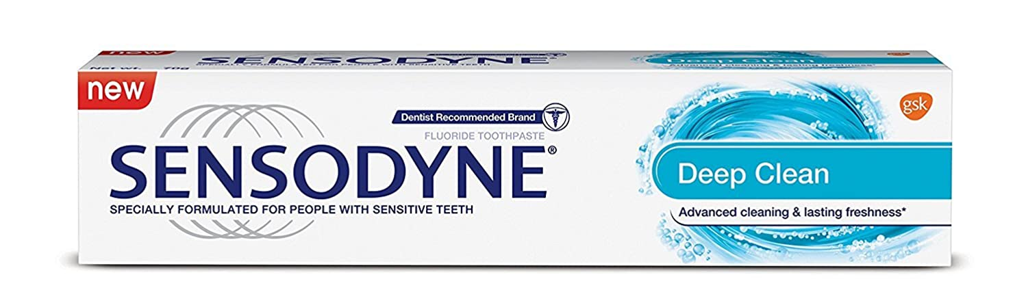 下手ではごきげんよう存在Sensodyne Sensitive Toothpaste - Deep Clean, 70g
