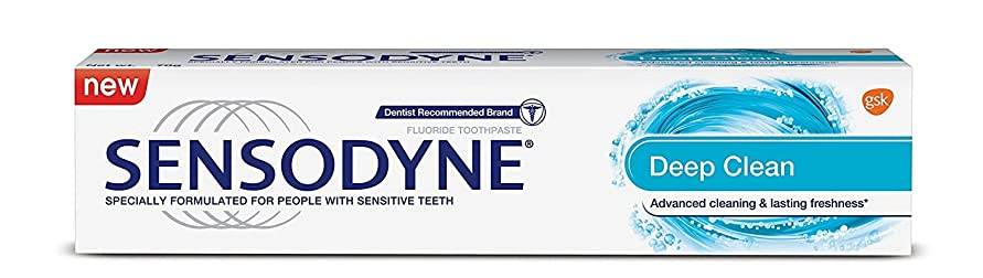 別の紫の絶えずSensodyne Sensitive Toothpaste - Deep Clean, 70g