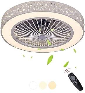 LED Plafonnier Ventilateur De Plafond Dimmable Avec Télécommande Vitesse Du Vent Réglable Pépinière Chambre Lampe Bureau R...