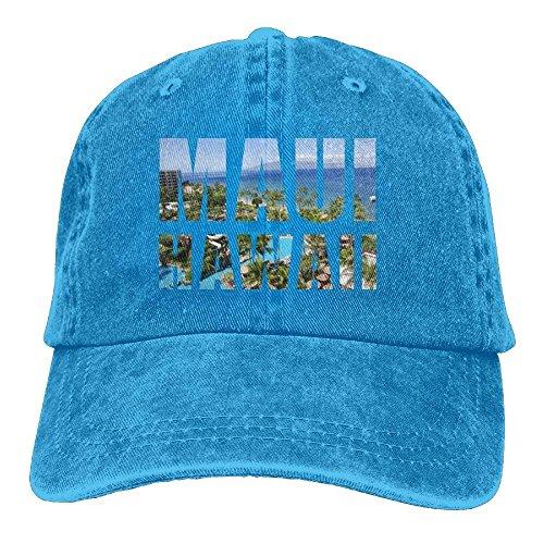 SOTTK Herren Damen Baseball Caps,Hüte, Mützen, Maui Hawaiian Denim Hat Adjustable Women Surf Baseball Hat