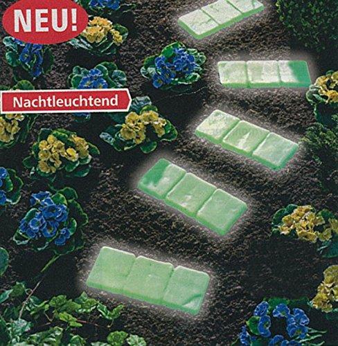 4er Set Gehwegplatten selbstleuchtend Gartenplatten Bodenplatten Trittplatte