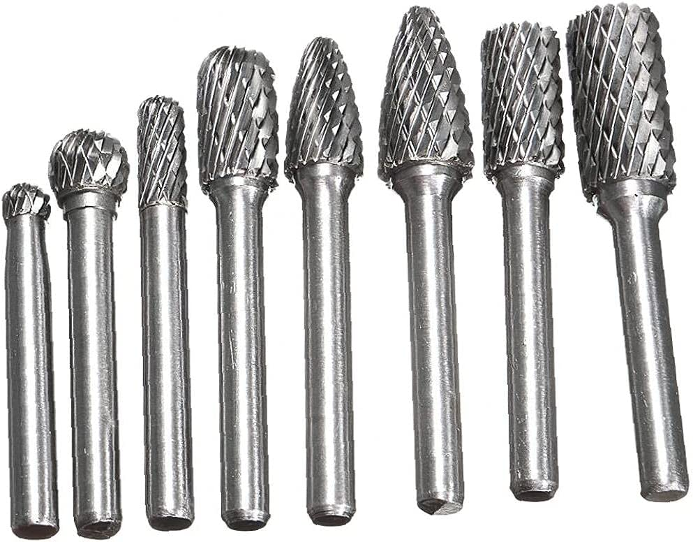 Tungsten Steel Year-end gift Rotary Files Set Carbide Bits Metal Burr for Luxury Wood