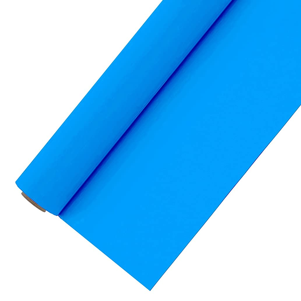 Heat Transfer Vinyl Roll 12 Inches by 5 Feet Easyweed Neon Colored HTV Vinyl for T-Shirts (Fluorescent Blue)