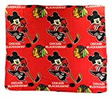 NHL Chicago Blackhawks Mickey Mouse Character Fleece Throw, 50 x 60-inches