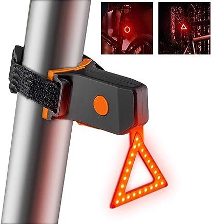 aiyvi LED /Éclairage Arri/ère Lumineux Rechargeable Lampe V/élo USB,Feux de Virage Installation Facile pour t/émoin Lumineux de s/écurit/é /à v/élo /étanche Alerte de Voie de Circulation au Sol