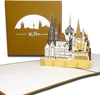 """3D Karte""""Köln – Panorama mit Kölner Dom"""" Pop-U"""