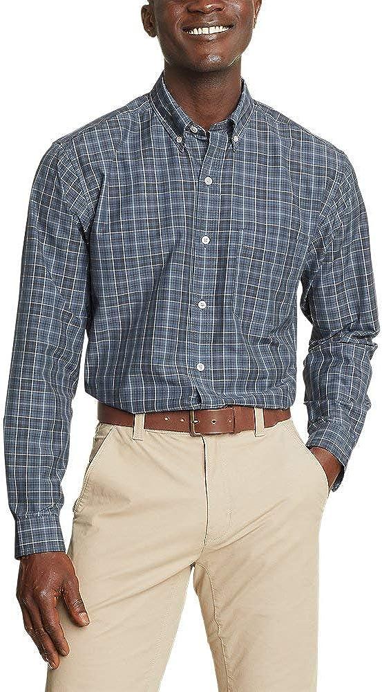 Eddie Bauer Men's Getaway Long-Sleeve Pattern Shirt - Relaxed Fit