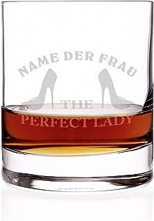 Herz & Heim New York Bar - Whisky Glas mit GRATIS Gravur des Namens der Perfect Lady