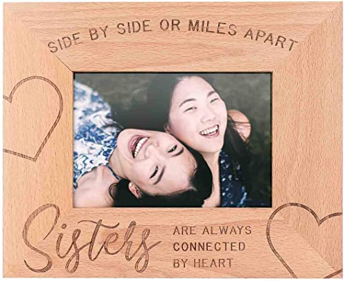 high quality GSM Brands Sisters Wooden Picture Frame (Holds 5 x 7 Inch Photo) (9 x 11 Inch Overall outlet sale wholesale Size) sale