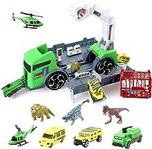 BeebeeRun Camion Juguete Dinosaurios Camión Dinosaurio del Juguete Camión Transportador Educativo Juguete para Niños