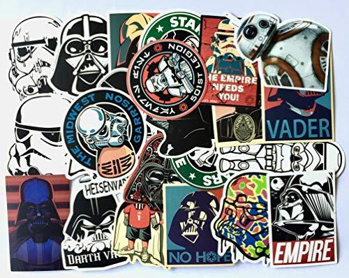 Star Wars Darth Vader Stormtrooper Frigorifero Auto Trolley Viaggio Valigia Cartoon Graffiti Sticker 25PZ