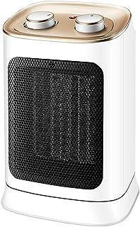 HLTL Calefactor Electrico Ceramica, Calentador Aire, Un Calentamiento Rápido, De Poco Ruido, Seguro Y Duradero para Oficinas, Cocinas, Dormitorios - Blanco