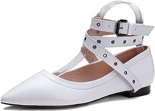 Nine Seven Women's Leather PointToe Elegant Flats