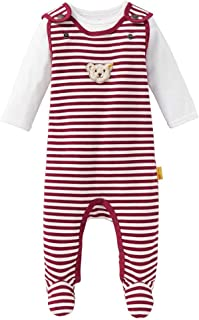 Steiff Baby-M/ädchen Set Strampler T-Shirt Langarm Bekleidungsset